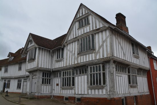 Lavenham Guildhall viewed from the Market Square