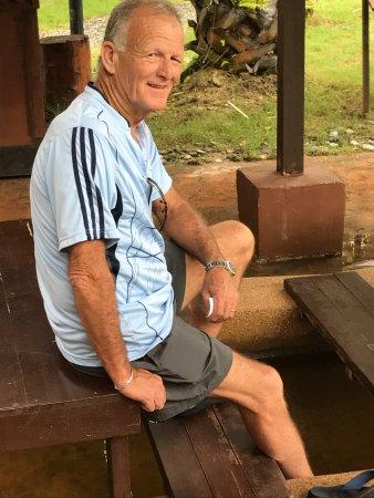 Ayer Hangat Village: Soaking in the hot spring