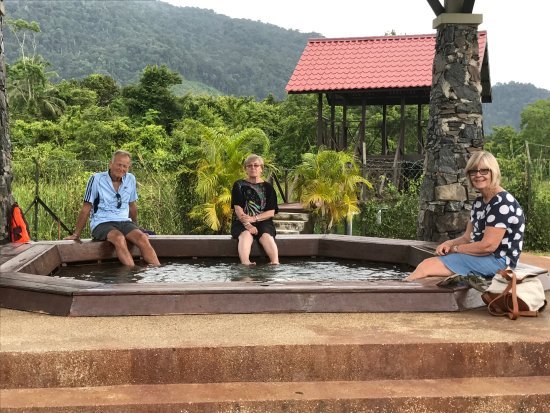 Ayer Hangat Village: Soaking in the hot spring