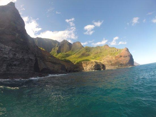Hanalei, HI: Beautiful view of the Na Pali coast!