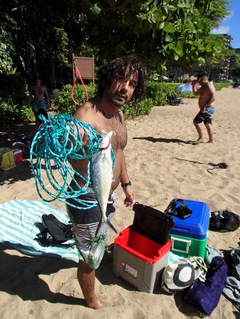 Aloha Surf Hostel: TOUR LEADER JAROD AT BLACK ROCK BEACH/SMORKELING STOP