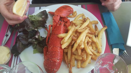 Guilvinec, Fransa: le homard avec ses frites !