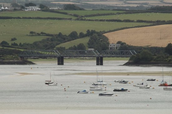 Padstow, UK: View of the first bridge on the Camel Trail