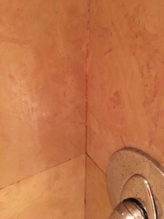 Chateau Saint-Martin & Spa: Chateau Saint-Martin - Superior Junior Suite - shower grouting very dirty