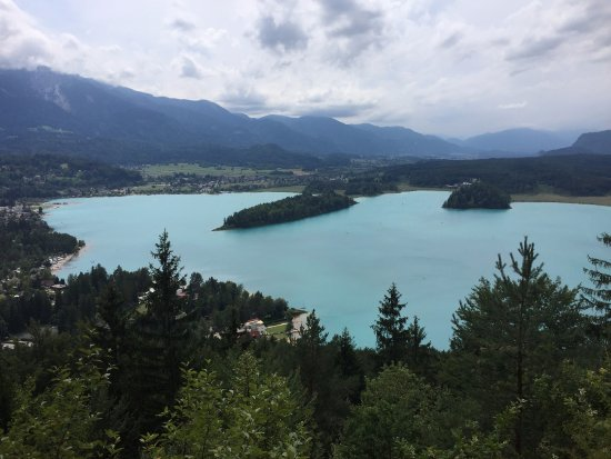 Ledenitzen, Австрия: Ausblick auf den Faaker See