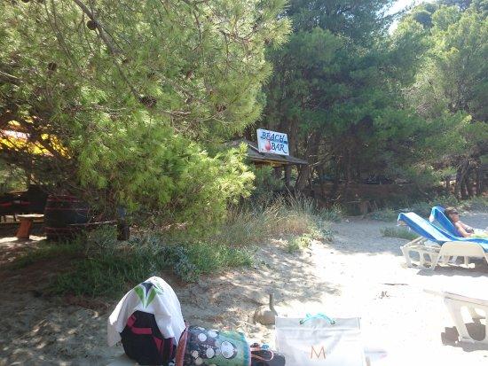 Saplunara, Kroatien: Beach Bar Hippokampos