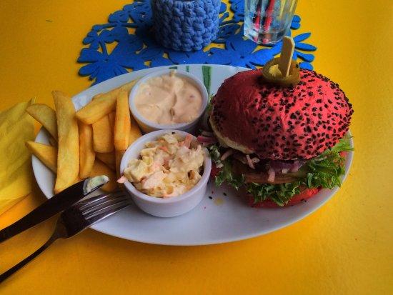 Haapsalu, Estonia: beef burger