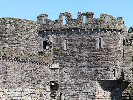 Beaumaris, UK: Close-up of partially finished tower