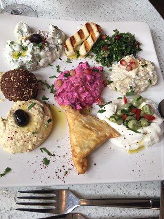 Бишопс-Стортфорд, UK: Mixed Meze Platter from Turkish menu