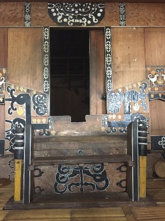 Flores, Indonesia: Detail of main door of the house