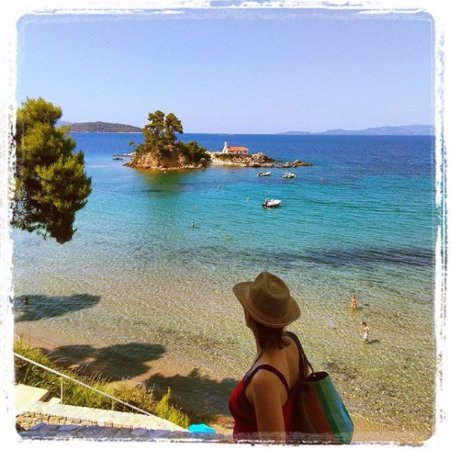 Agios Nikolaos, Greece: Θέα από το εστιατόριο