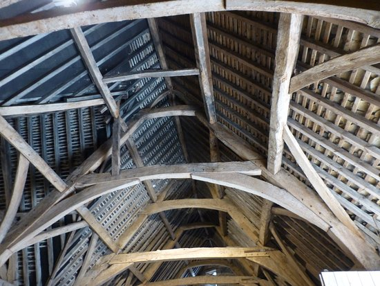 Lacock, UK: Well preserved roof and rafters