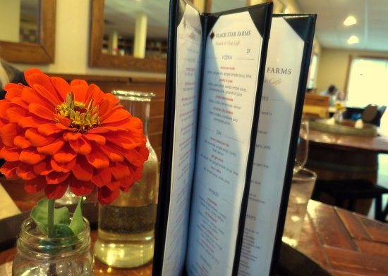 Hearth & Vine Cafe at Black Star Farms: Nice menu options