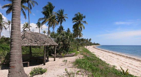 Pangani, Tanzania: Lounge area with endless beach