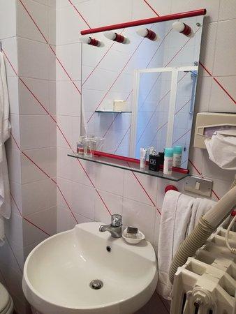arredo bagno dozzinale non in linea con un 4 stelle - Foto di Hotel ...