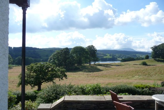 Near Sawrey, UK: Terrace view onto the lake
