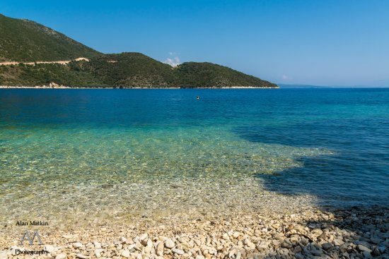 Nostos Hotel: One of the beautiful beaches around Frikes