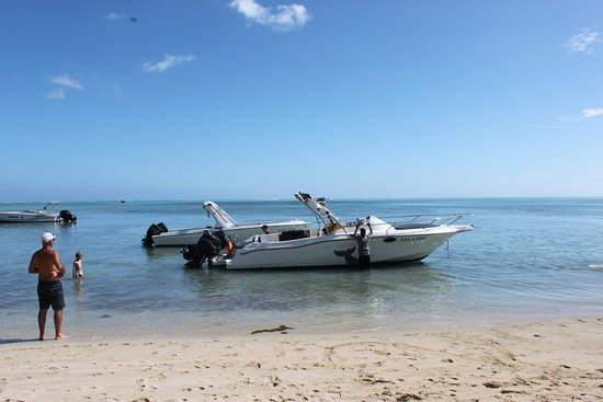 Grande Riviere Noire: Our Speed boat for the day