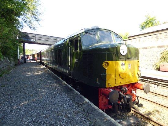 Matlock, UK: Diesel D8 'Penyghent' at Matlock station