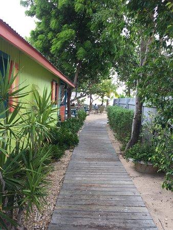 West End Village, Anguilla: View walking in