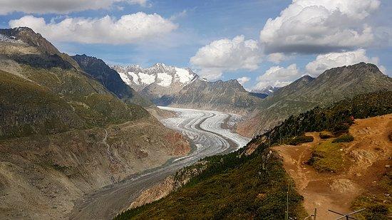 Aletsch Glacier: Vue depuis Hohfluh ARBAG