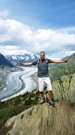 Aletsch Glacier: Vue depuis Moosfluh