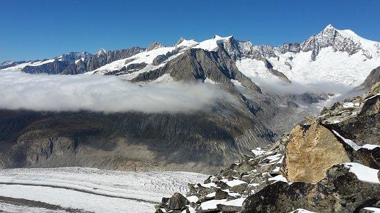 Aletsch Glacier: Vue depuis Eggishorn