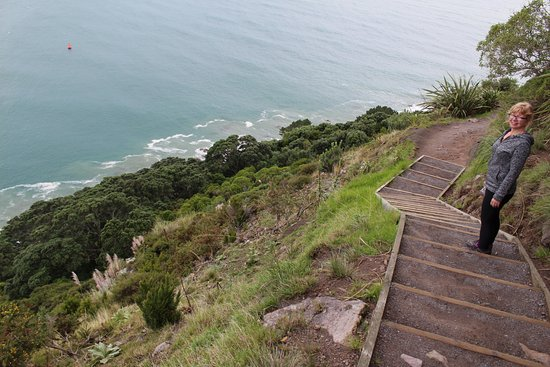 Mount Maunganui, New Zealand: Steps on the far side of the Mount
