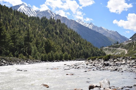 Sangla, Индия: View of the river flowing across the vallley