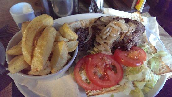 Bilsborrow, UK: Steak sandwich
