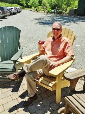 Banner Elk, NC: Enjoying my wine!