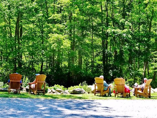 Banner Elk, NC: Relaxing by the river.