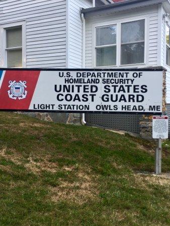 Owls Head, ME: sign