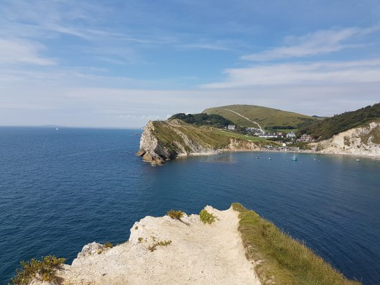 Уэст-Лалворт, UK: Lulworth Cove view from the cliff top