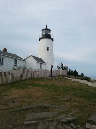 Pemaquid, ME: The lighthouse on the point-four miles from the cottage