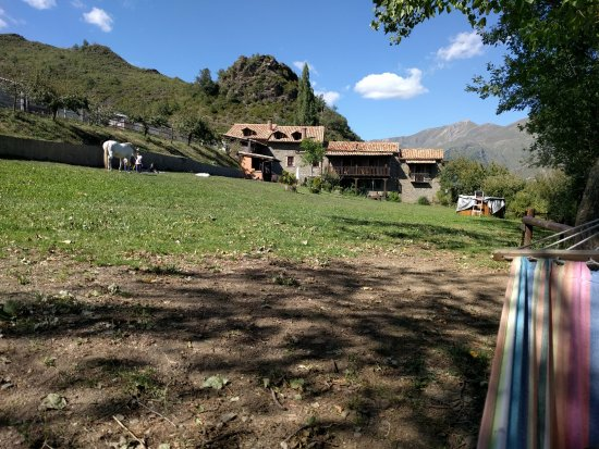 Laspaules, Spanien: vistas desde la hamaca del jardín