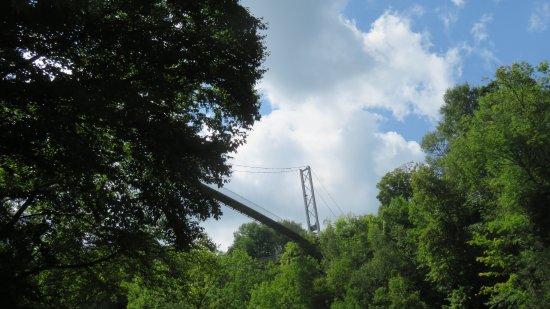 Parc de la Gorge de Coaticook: vue du pont