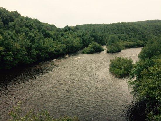 Jim Thorpe, PA: Beautiful scenery from the train.