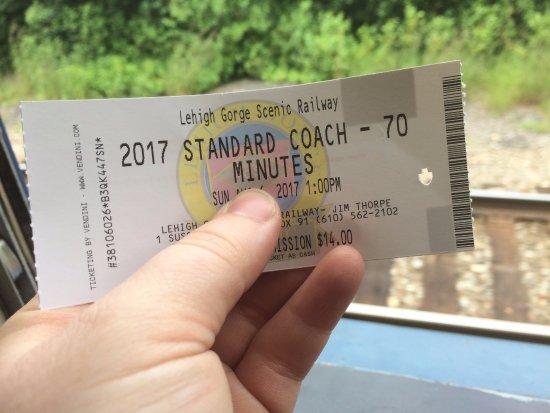 Jim Thorpe, PA: My ticket to ride.