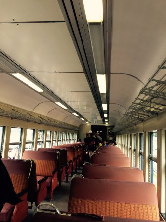 Jim Thorpe, PA: Inside of one of the coaches.