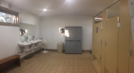 Blakeslee, PA: Women's room in main bathhouse. View #1