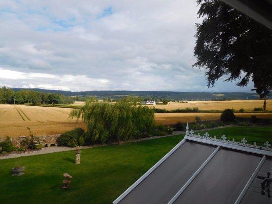 Fochabers, UK: View from twin room Trochelhill