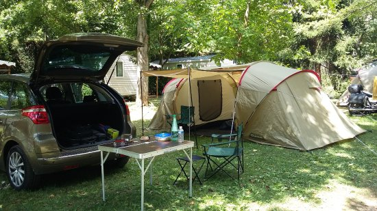 Ispagnac, Frankreich: Emplassement toile de tente