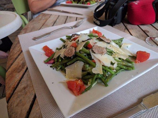 Bean salad starter nh c a au jardin de la tour for Au jardin de la tour carcassonne