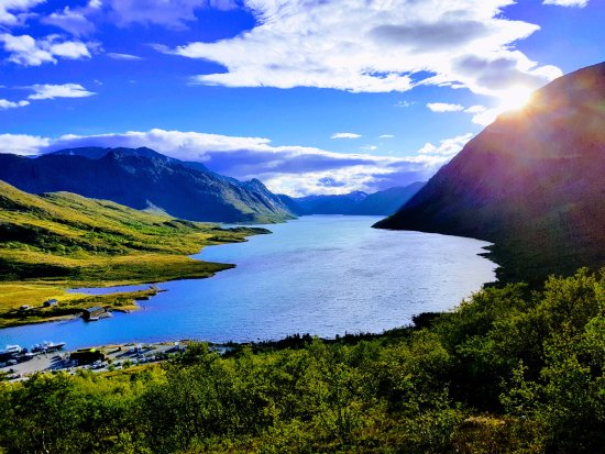 Vagamo, Norge: the end of the hike