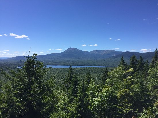 Patten, ME: Mount Katahdin as seen from Katahdin Woods and Waters Monument, Maine. Photo copyright Beth Harp