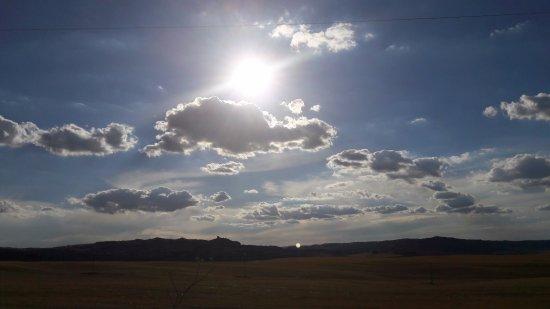 Casina di Pacina: tramonto dalla struttura