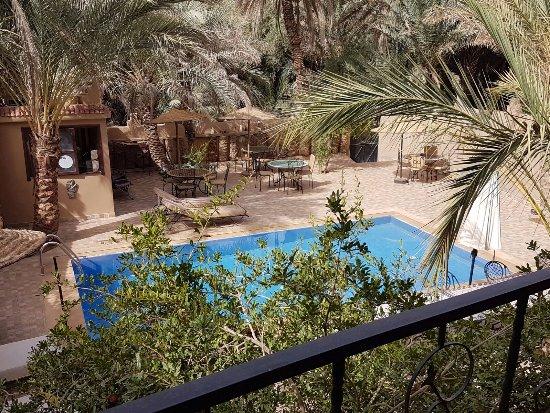 Aoufous, Maroko: vue depuis le balcon