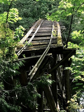 Whatcom Falls Park: old railroad