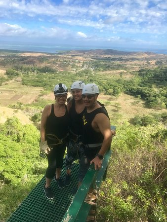 Zip Fiji: Views from one of the higher lines